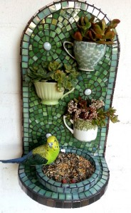 Raw Bird Feeder or Shelf for Mosaic Or Delf Decorating